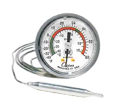 Cooper 6742-19-3 2-in Panel Type Thermometer w/ U-Bracket, 40 To 240-Degrees F