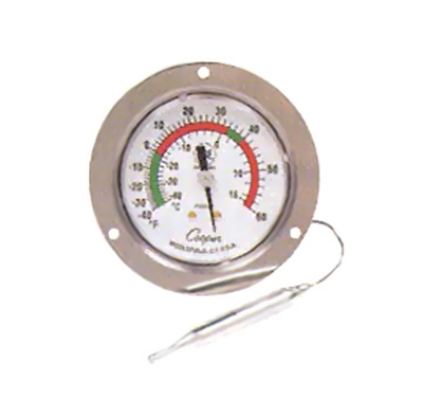 "Cooper 7112-01-3 2.5"" Panel Type Thermometer w/ Front Flange, -40 To 60-Degrees F, NSF"