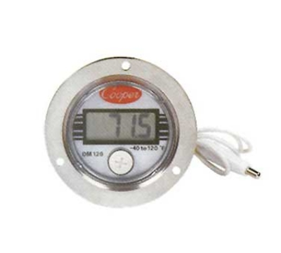 Cooper DM120-0-3 Panel Type Thermometer w/ Front Flange Case, -40 To 120-Degrees F