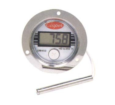 Cooper DM450-0-3 Panel Type Thermometer w/ Front Flange Case, -40 To 450-Degrees F