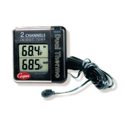 Cooper Instrument IO70-0-8 Digital Wall Thermometer w/ 10-ft Sensor Cord