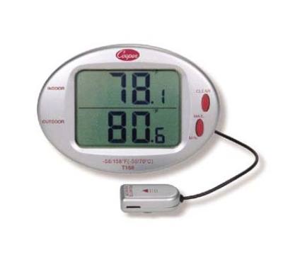 Cooper T158-0-8 Indoor Outdoor Min/Max Thermometer, 32 To 122-Degrees F