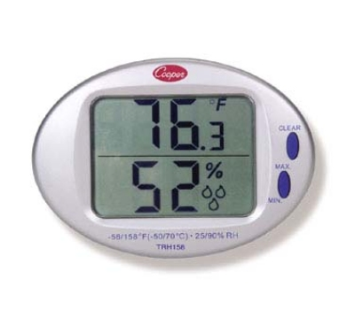 Cooper TRH158-0-8 Minimum & Maximum Thermometer Hygrometer, 32 To 122-Degrees F