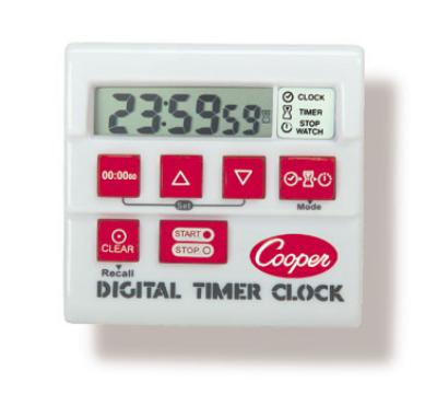 Cooper Instrument TC6-0-8 Digital Timer / Clock / Stopwatch, 24 Hr, 1 sec Increments, Memory
