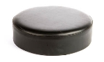Oak Street SL2129TOP-BLK Replacement Button Top Bar Stool Seat, Black Vinyl