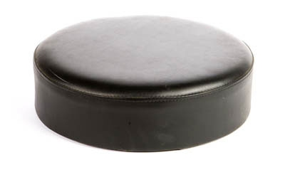 Oak Street Mfg SL2129TOP-BLK Replacement Button Top Bar Stool Seat, Black Vinyl