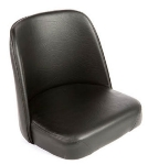 Oak Street Mfg SL2133TOP-BLK Replacement Bar Stool Bucket Seat, Black Vinyl