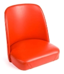 Oak Street Mfg SL2133TOP-RED Replacement Bar Stool Bucket Seat, Red Vinyl