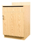 Oak Street M8210-OAK 24-in Waitress Station w/ 1-Drawer & 1-Door, Oak Melamine Frame