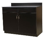 Oak Street M8220-BLK 48-in Waitress Station w/ 2-Drawer & 2-Door, Black Melamine Frame