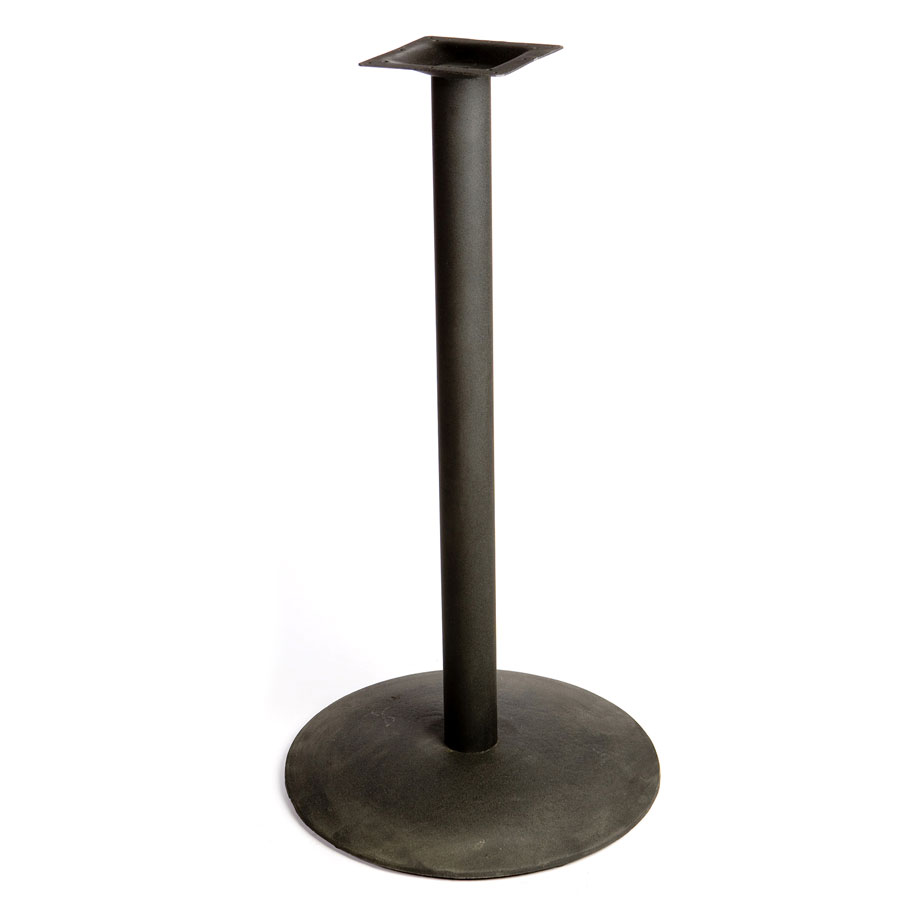 "Oak Street B24DISC-BAR 24"" Round Table Base - Bar Height, Cast Iron, Powder Coated, Black"
