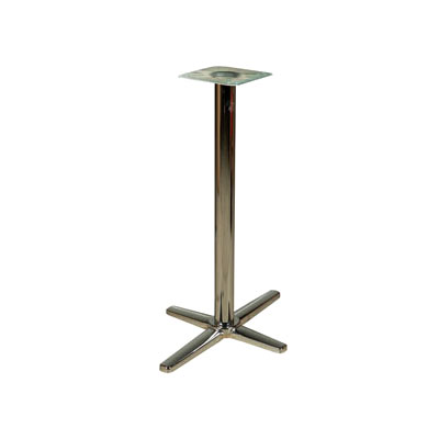 "Oak Street B30CHR-BAR Bar Height Table Base w/ 30 x 30"" Base Spread, Chrome"