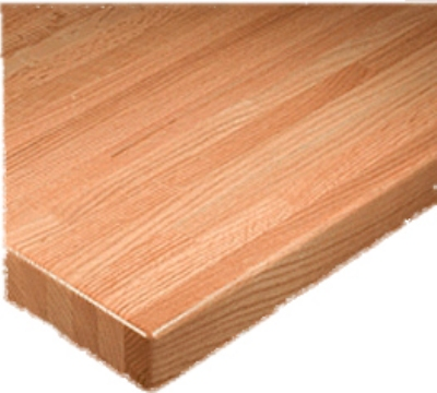 Oak Street Mfg BPO36R 36-in Round Solid Oak Butcherblock Table Top, 1.75-in Thick