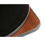 "Oak Street Mfg COMBM48R-STD 48"" Round Pedestal Table - Dining Height, Reversible Mahogany/Black Surface"