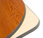"Oak Street Mfg COMNC3636-PUB 36"" Square Pedestal Table - Bar Height, Reversible Cherry/Natural Surface"