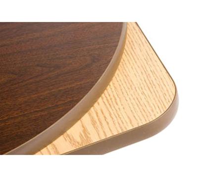 "Oak Street Mfg COMWO2424-STD 24"" Square Pedestal Table - Dining Height, Reversible Oak/Walnut Surface"