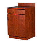 Oak Street M8210-CHERRY 24-in Waitress Station w/ 1-Drawer & 1-Door, Cherry Melamine Frame