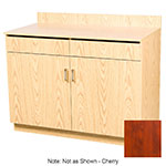 Oak Street M8220-CHERRY 48-in Waitress Station w/ 2-Drawer & 2-Door, Cherry Melamine Frame