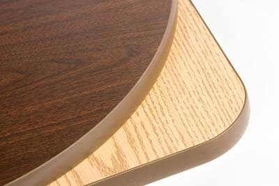 "Oak Street CKTL18R-OW 18"" Round Reversible Cocktail Table Top, Oak & Walnut"