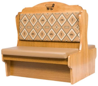 Oak Street Mfg DRN-30DBLVSWB Double Restaurant Booth - Wood Back, Vinyl Seat, 30x48