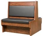 Oak Street Mfg SHEP-30DBLVSWB Double Restaurant Booth - Wood Back, Vinyl Seat, 30x42