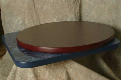Oak Street Mfg CTM48R 48-in Round Table Top w/ Laminate Surface & Rubber T-Mold Edge