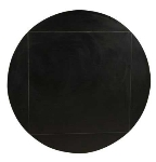 Oak Street Mfg MB3636FLIP51-BLK 36-in Square To 51-in Round Flip Table Top w/ Black T-Mold Edge