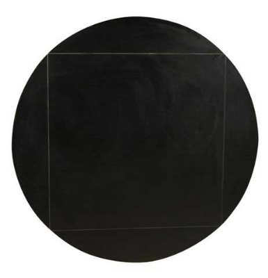 "Oak Street MB3636FLIP51-BLK 36"" Square To 51"" Round Flip Table Top w/ Black T-Mold Edge"