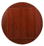 "Oak Street MB3636FLIP51-M 36"" Square To 51"" Round Flip Table Top, Mahogany"