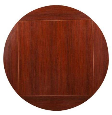 Oak Street Mfg MB3636FLIP51-M 36-in Square To 51-in Round Flip Table Top, Mahogany