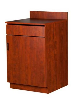 Oak Street Mfg M8210-CHERRY 24-in Waitress Station w/ 1-Drawer & 1-Door, Cherry Melamine Frame