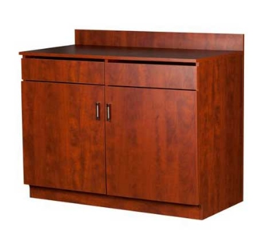 Oak Street Mfg M8220-CHERRY 48-in Waitress Station w/ 2-Drawer & 2-Door, Cherry Melamine Frame