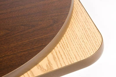 Oak Street Mfg OW42R 42-in Round Reversible Table Top w/ T-Mold Edge, Oak & Walnut