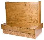 Oak Street Mfg RST-30SGLWSUB Single Restaurant Booth - Plain Back, Wood Seat, 30x42