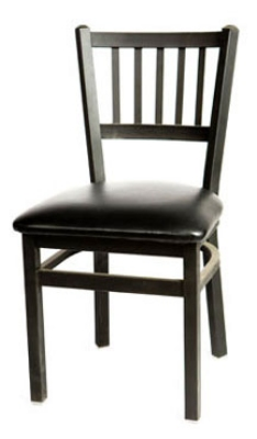 Oak Street Mfg SL2090 Dining Chair w/ Metal Vertical Back & Black Powder Coated Frame