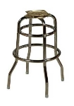 Oak Street SL2129BOTTOM Replacement Bar Stool Frame w/ Double Ring Base, Chrome