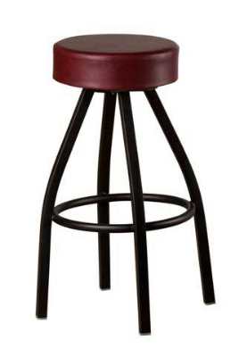 Oak Street SL2132-WINE Swivel Bar Stool w/ Tapered Frame & Button Top Round Wine Seat