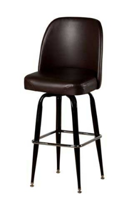 Oak Street SL2133-ESP Swivel Bar Stool w/ Square Chrome Ring & Espresso Bucket Seat