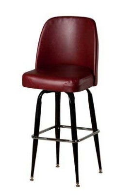 Oak Street SL2133-WINE Swivel Bar Stool w/ Square Single Chrome Ring & Wine Bucket Seat