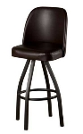 Oak Street SL2136-ESP Swivel Bar Stool w/ Single Ring & Espresso Vinyl Bucket Seat