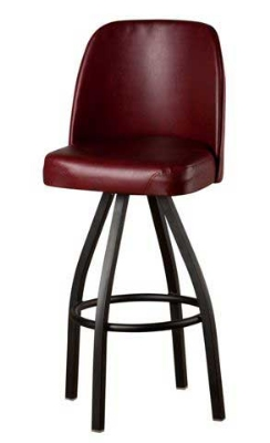 Oak Street SL2136-WINE Swivel Bar Stool w/ Single Ring & Wine Vinyl Bucket Seat