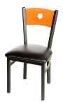 Oak Street SL2150-B Dining Chair w/ Bullseye Solid Birch Back & Black Powder Frame