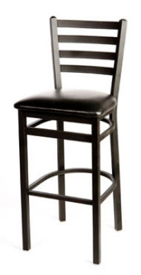 Oak Street Sl2301sv Bar Stool W Foot Rest Amp Metal Ladder