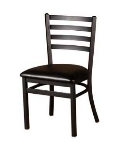 Oak Street SL3160 Extra Large Dining Chair w/ Metal Ladder Back & Black Powder Frame