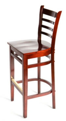 Oak Street Mfg WB101MH Beech Frame Bar Stool w/ Ladder Back &