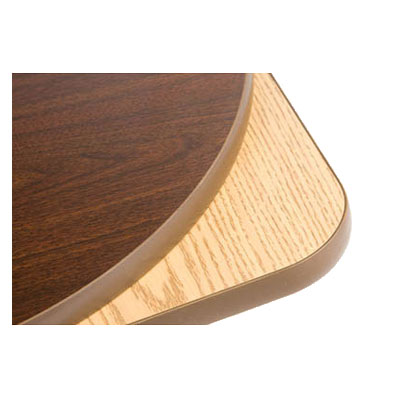 Oak Street OW3636 36-in Square Reversible Table Top w/ T-Mold Edge, Oak & Walnut