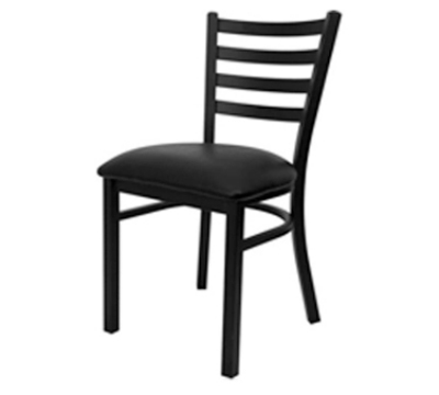 Oak Street Mfg SL1160 Economy Dining Chair w/ Metal Ladder Back & Welded Steel Tubing