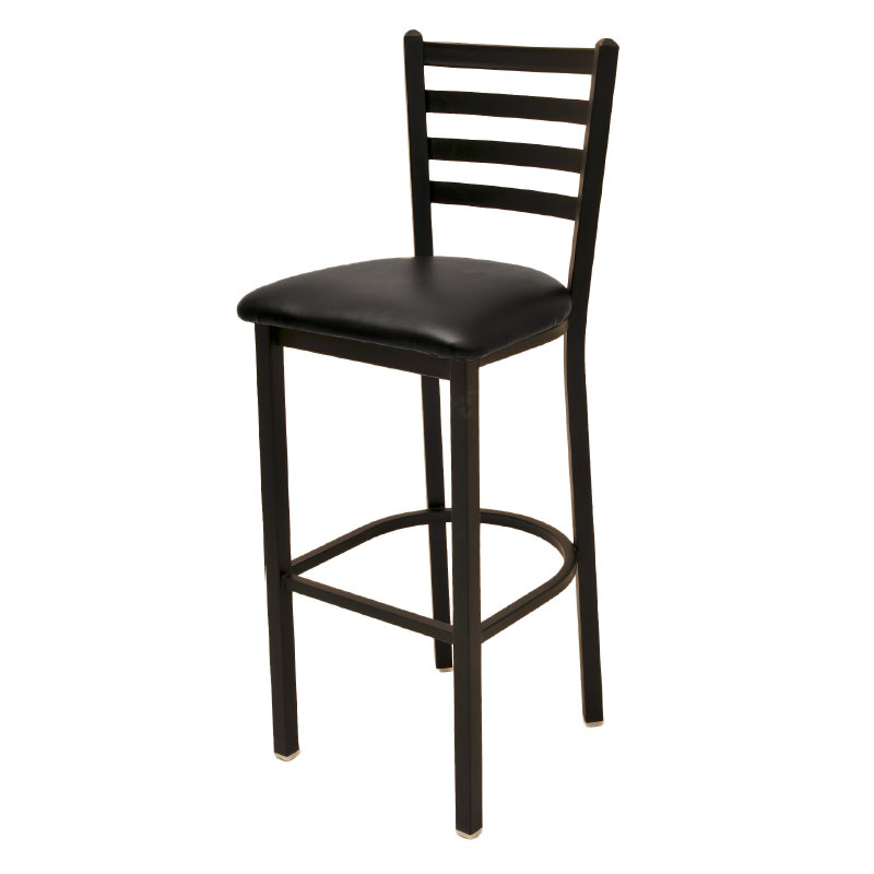 Oak Street Mfg SL1301 Economy Bar Stool w/ Metal Ladder Back & Welded Steel Tubing