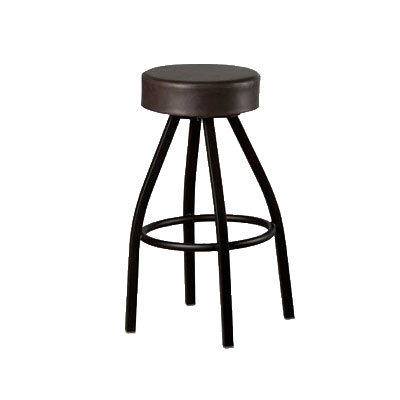 Oak Street SL2132-ESP Swivel Bar Stool w/ Tapered Frame & Button Top Round Espresso Seat