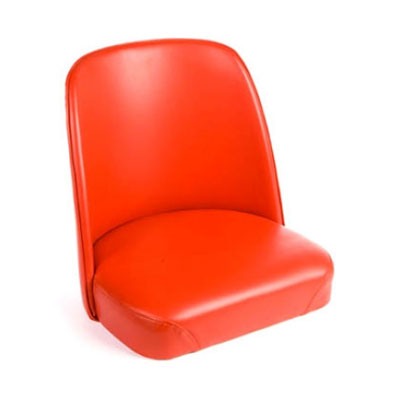 Oak Street SL2133TOP-RED Replacement Bar Stool Bucket Seat, Red Vinyl